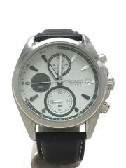 ※電池切れの為/VD57-KD30/クォーツ腕時計/アナログ/レザー/WHT/BLK