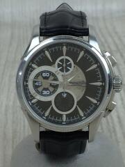 ジャズマスター クロノグラフ/自動巻腕時計/アナログ/レザー/BLK/BLK/H327560