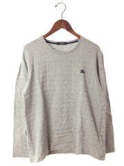 長袖Tシャツ/3/コットン/GRY/ボーダー/D1P07-806-06/胸刺繍