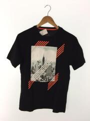 クルーネックTシャツ/Tシャツ/S/コットン/BLK