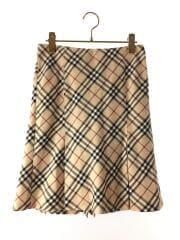 スカート/38/ウール/BEG/チェック/FLF51-671-43/バーバリーチェック