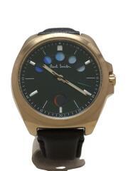 クォーツ腕時計/アナログ//F335-T021476/5アイズ/レザー