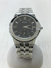 クォーツ腕時計/アナログ/ステンレス/BLK/SLV/6G28-00B0