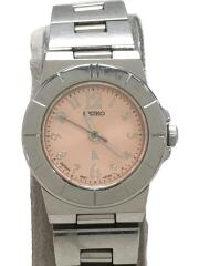 クォーツ腕時計/アナログ/ステンレス/PNK/SLV/4N21-1130/ミニサイズ