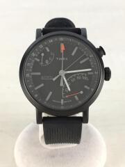 クォーツ腕時計/デジタル/ラバー/BLK/BLK/メトロポリタンプラス/M372 N