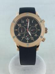 クォーツ腕時計/アナログ/ラバー/BLK/BLK/ACE COLLECTION/WT6R043ZEK