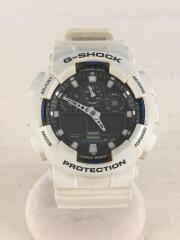 クォーツ腕時計/デジアナ/ラバー/BLK/WHT/GA-100B/G-SHOCK/ジーショック