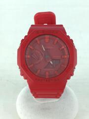 クォーツ腕時計/デジアナ/ラバー/RED/RED/GA-2100/G-SHOCK/ジーショック