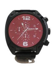 クォーツ腕時計/アナログ/ステンレス/BLK/BLK/DZ-4316/オーバーフロー/OVERFLOW