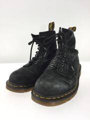 ブーツ/US7/BLK/スウェード/8ホール/21466