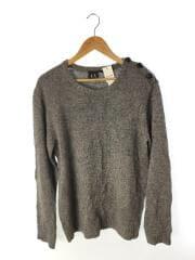 セーター(薄手)/L/アクリル/ラムウール/GRY/肩ボタン