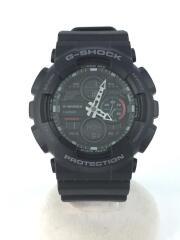 CASIO /クォーツ腕時計/アナログ/BLK