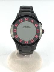 ROMAGO DESIGN/クォーツ腕時計/アナログ/ステンレス/BLK/SLV