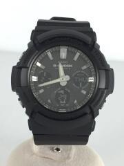 クォーツ腕時計/デジアナ/ラバー/BLK/BLK/GAW-100B-1AJF/G-SHOCK/ジーショック