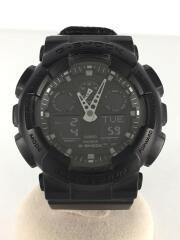 腕時計/デジアナ/キャンバス/BLK/BLK/GA-100BBN/G-SHOCK/ジーショック