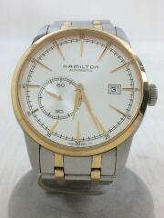 クォーツ腕時計/アナログ/ステンレス/WHT/SLV/レイルロードスモールセコンド