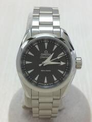 クォーツ腕時計/アナログ/ステンレス/GRY/SLVSEAMASTER/AquaTerra/150m/シーマスター アクアテラ