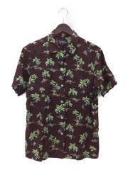アロハシャツ/17RSROW-012/半袖ブラウス/L/コットン/BRD/総柄//半袖シャツ/オープンカラー