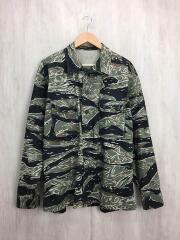 長袖シャツ/XL/タイガーカモ/GRN/カモフラ