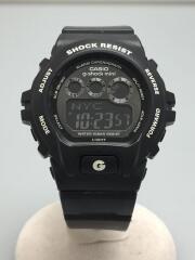 クォーツ腕時計/デジタル/ラバー/BLK/Gショックミニ/GMN-691