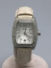 クォーツ腕時計/アナログ/--/WHT/S922ZI