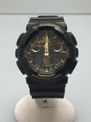 クォーツ腕時計/デジアナ/ラバー/マルチカラー/BLK