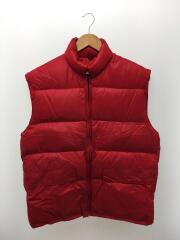 FROSTLINE kit/ダウンベスト/XL/ナイロン/RED/1970s