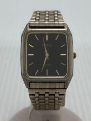 クォーツ腕時計/--/ステンレス/BLK/SLV/
