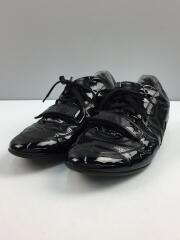 ローカットスニーカー/US7.5/BLK/エナメル/Patent Leather Strap Sneakers