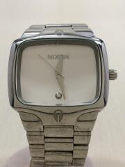 クォーツ腕時計/アナログ/ステンレス/WHT/SLV/THE PLAYER