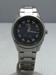 ソーラー腕時計/アナログ/ステンレス/NVY/SLV/SE-01-CD-8
