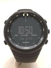 クォーツ腕時計/デジタル/ラバー/BLK/BLK/CORE