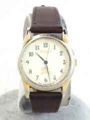 クォーツ腕時計/アナログ/レザー/CRM/BRW