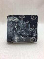 2つ折り財布/--/NVY/総柄/M66467/モノグラムサバンナ