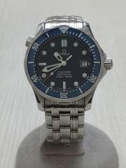 クォーツ腕時計/アナログ/NVY/SLV/シーマスター300/プロフェッショナル