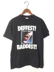 09AW/Deffest Baddest/Tシャツ/M/コットン/BLK