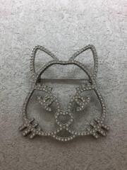 ブローチ/猫/ネコ/キャット/アクセサリー/ラインストーン/A96339
