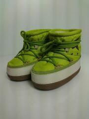 ムートンブーツ/スノーブーツ/キッズ靴/黄緑色