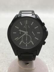 クォーツ腕時計/アナログ/ステンレス/BLK/BLK/AX2601