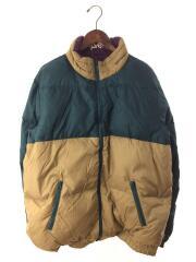 14AW/Reversible Puffy Jacket/ダウンジャケット/XL/ポリエステル/GRN