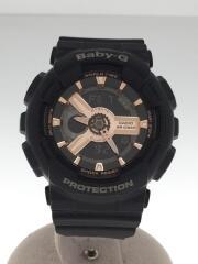 クォーツ腕時計・Baby-G/デジアナ/ラバー/BLK/BLK