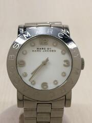 クォーツ腕時計/アナログ/ステンレス/WHT/SLV/ マークバイマークジェイコブス
