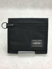 2つ折り財布/ナイロン/BLK