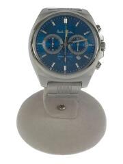クォーツ腕時計/0520-S092388/デジアナ/ステンレス/BLU/SLV