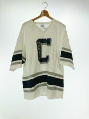 ×Champion/PANELED FOOTBALL TEE/Tシャツ/M/コットン/ホワイト/無地/中古