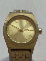 クォーツ腕時計/デジアナ/ステンレス/GLD/SMALL TIME TELLER