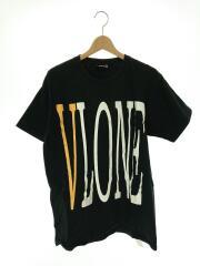 VLONE/Tシャツ/M/コットン/ブラック/中古