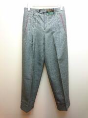 20AW/Wool Plain Slacks Pants/ステッチ入りウールパンツ/44/コットン/GRY