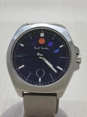 クォーツ腕時計/アナログ/ステンレス/NVY/SLV/ファイブアイズホリゾンタル/F335-T021522