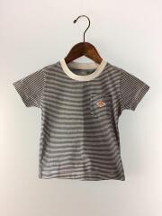 Tシャツ/S/コットン/BLK/ボーダー